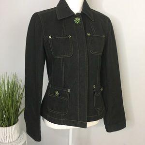 Pristine Vintage Jean Jacket Denim Designer Dark 2